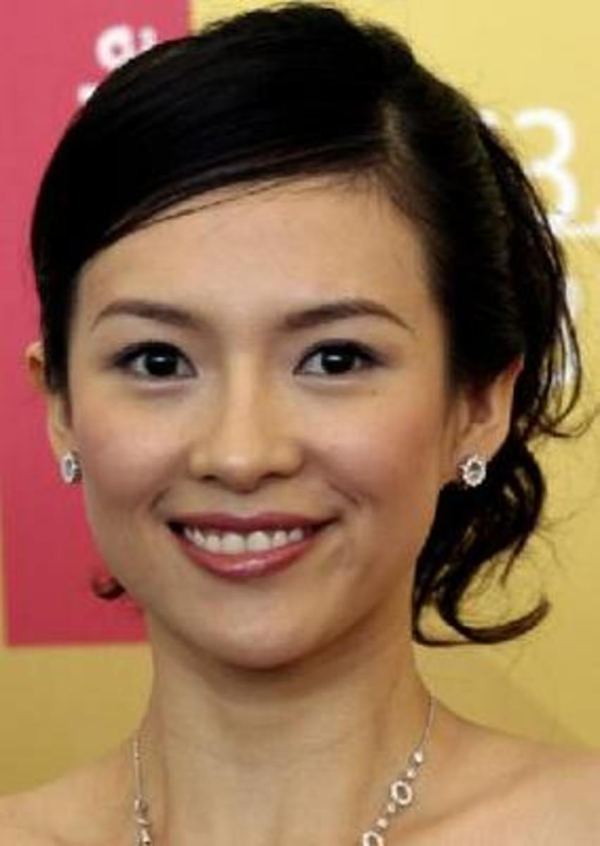 zhang zhiyi sophisticated ponytail hairstyles for short hair