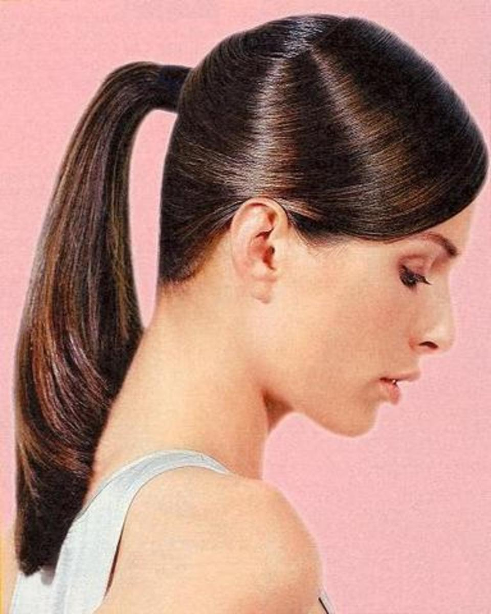 smooth and silky pretty ponytails for long hair