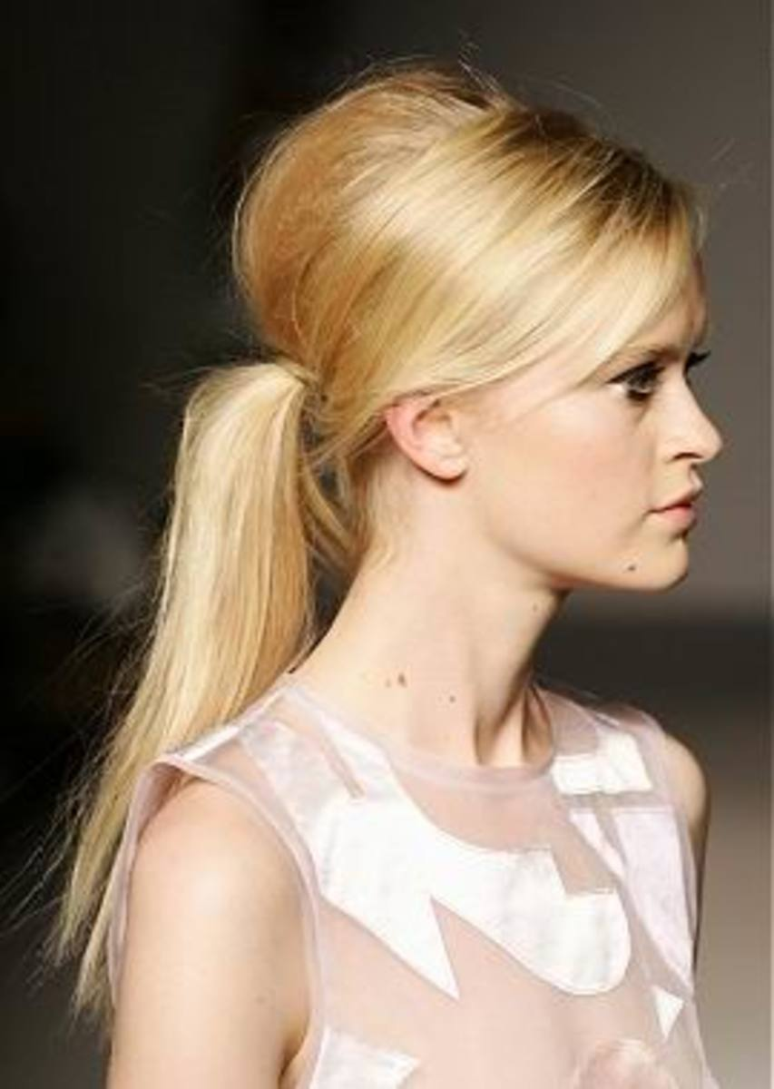 bouffant ponytail hairstyles for girls