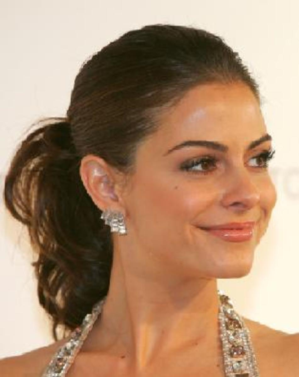 celebrity sleek ponytail hairstyles