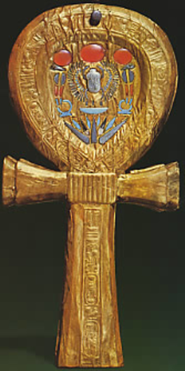 Ankh with Lapis Lasuli and Red Jasper - powerfull healing tool used in Ancient Egypt