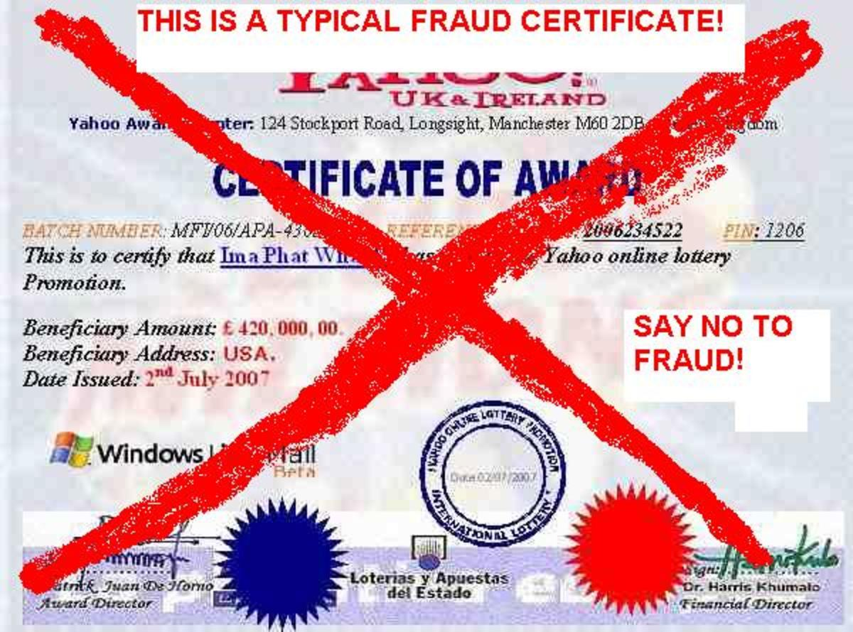 say no to fraud and scam!