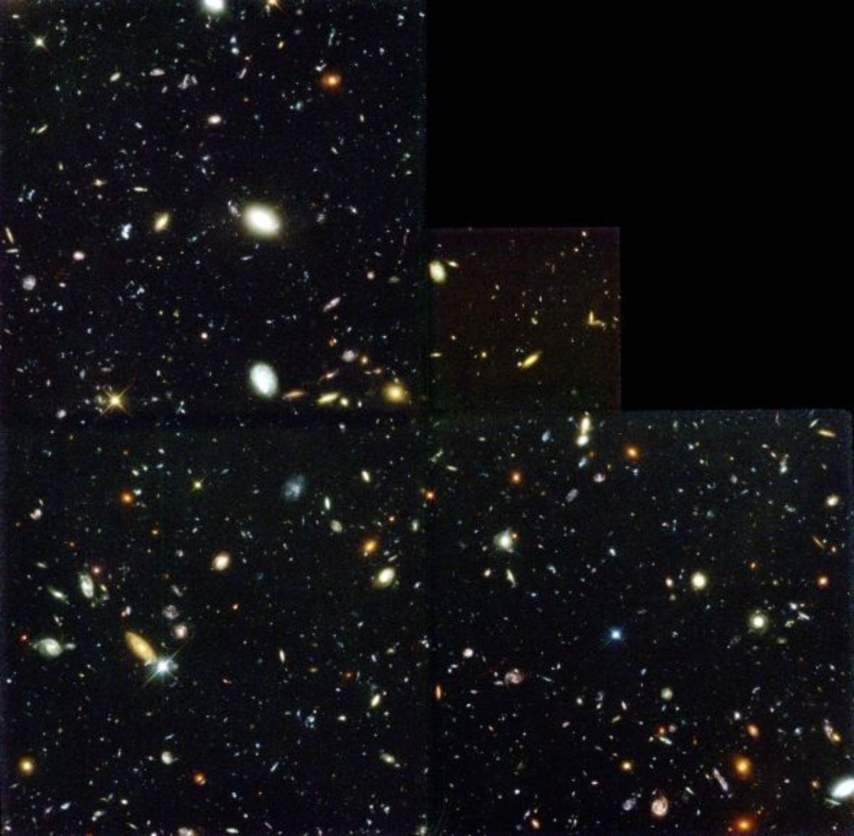 Around 3,000 galaxies 12 billions of light years away can be seen in this picture.