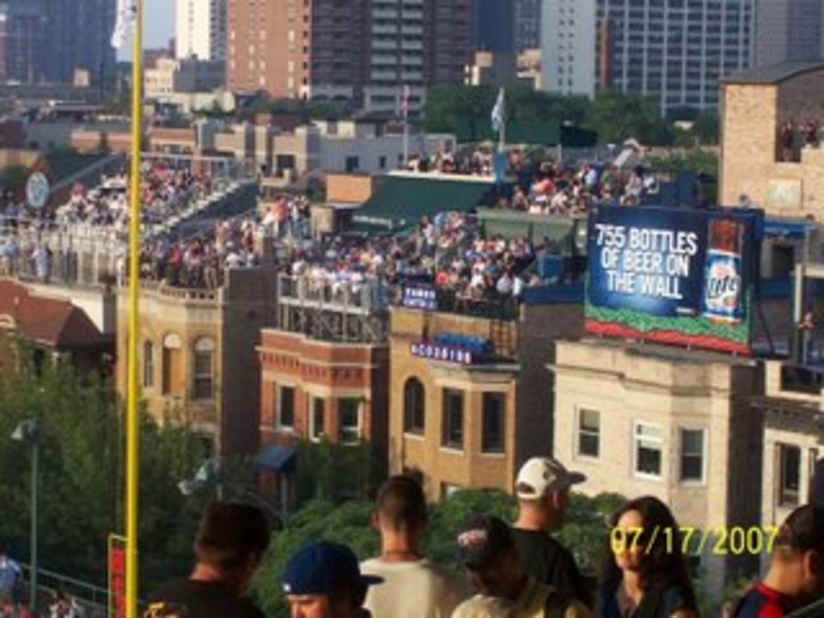 Rooftops beyond Wrigley