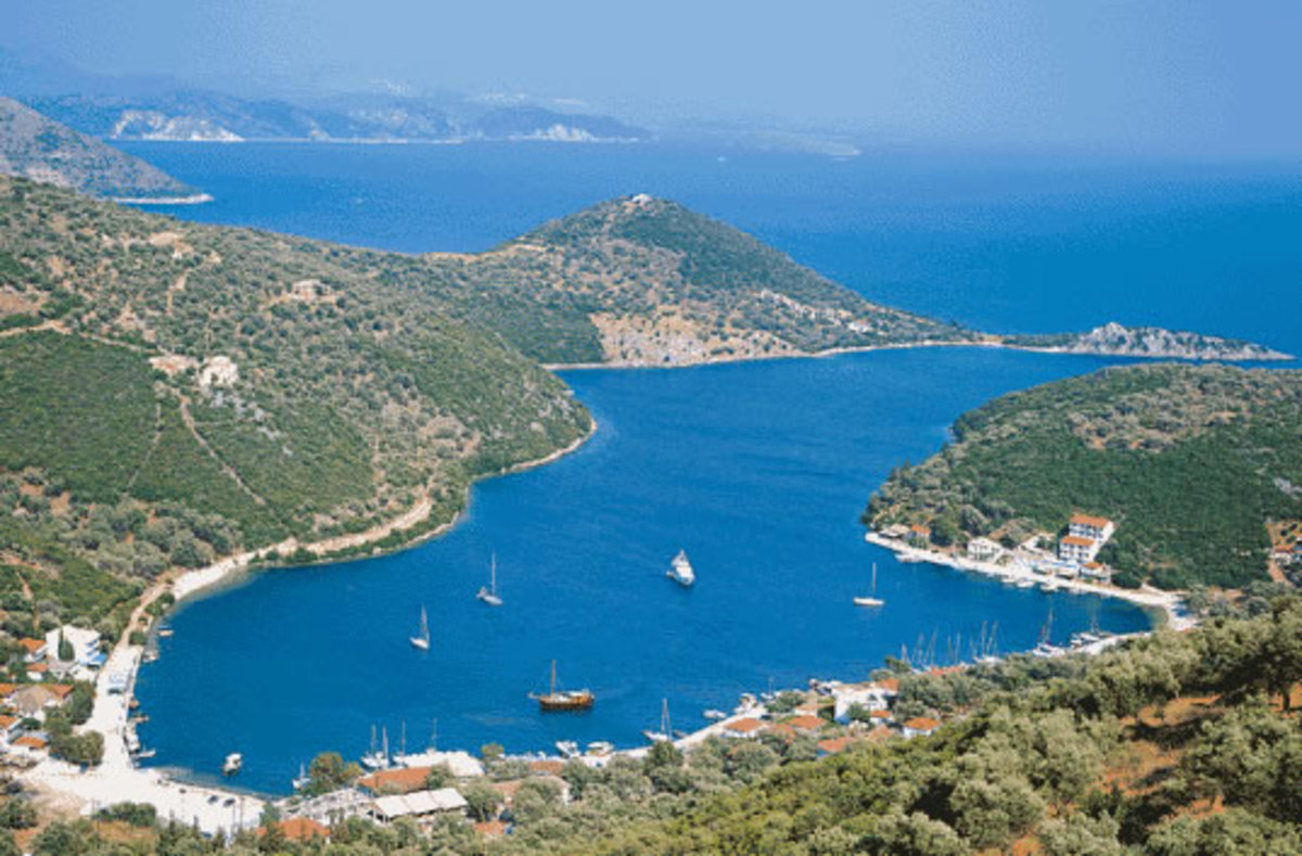 Looking down to Sivota Bay