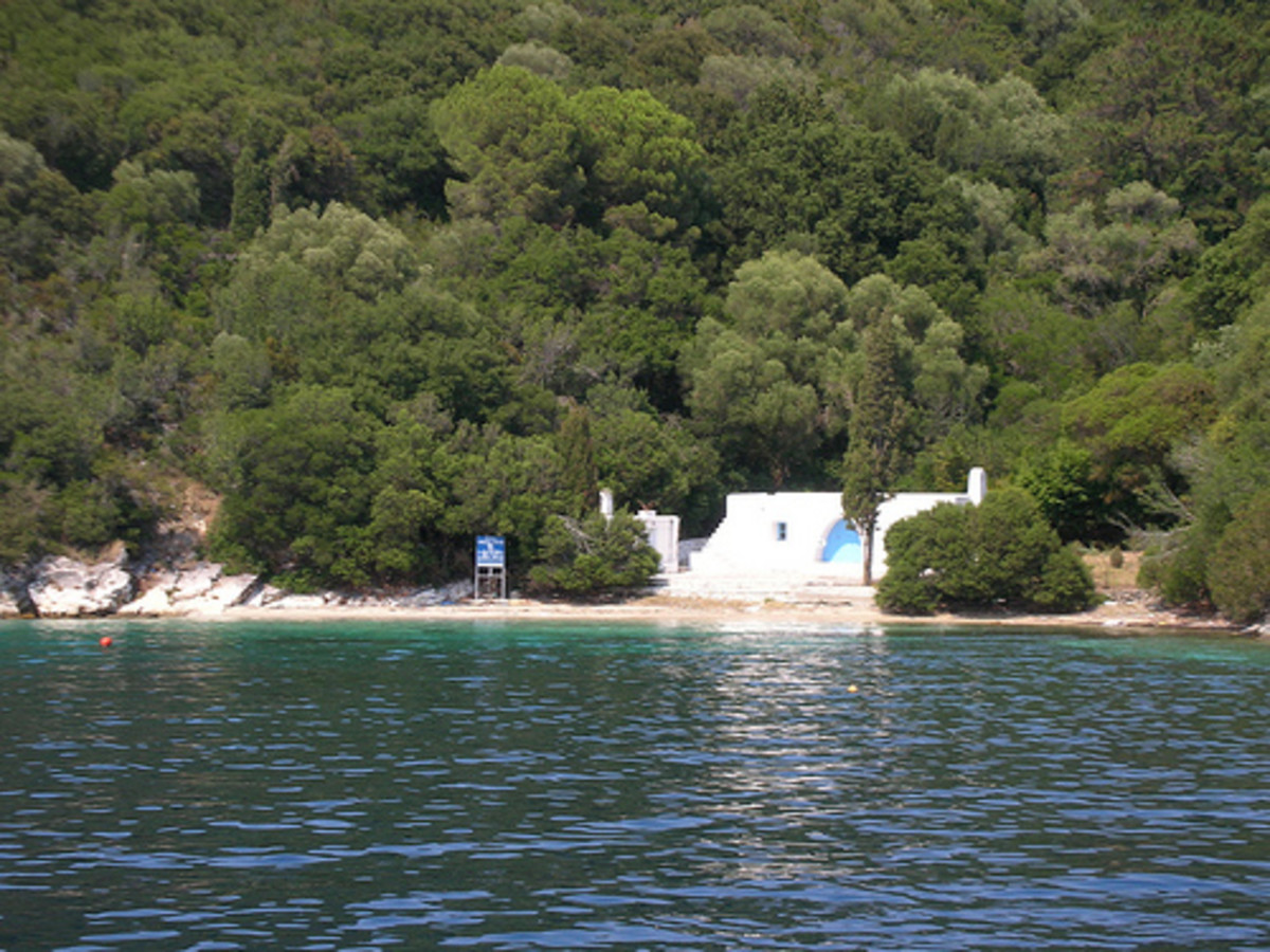 Approaching Skorpios, the Onassis, Island
