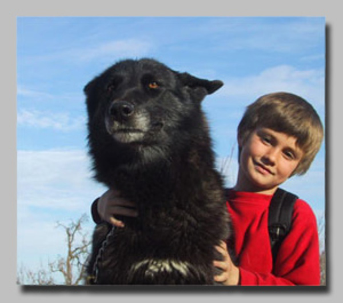 A Boy and His Dog - er, Wolfdog