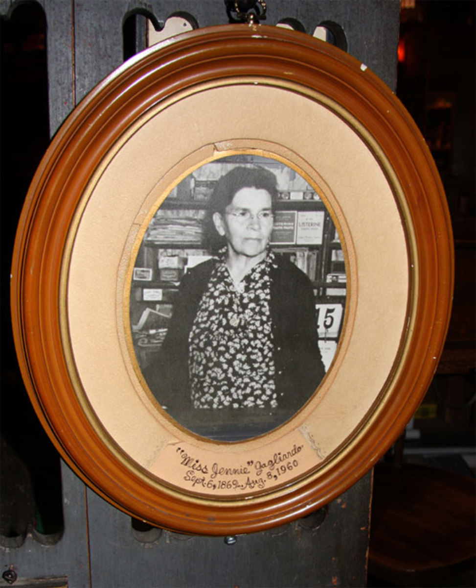 Miss Jenny lived next door to her store and was there each day. Photo by Linda Gast