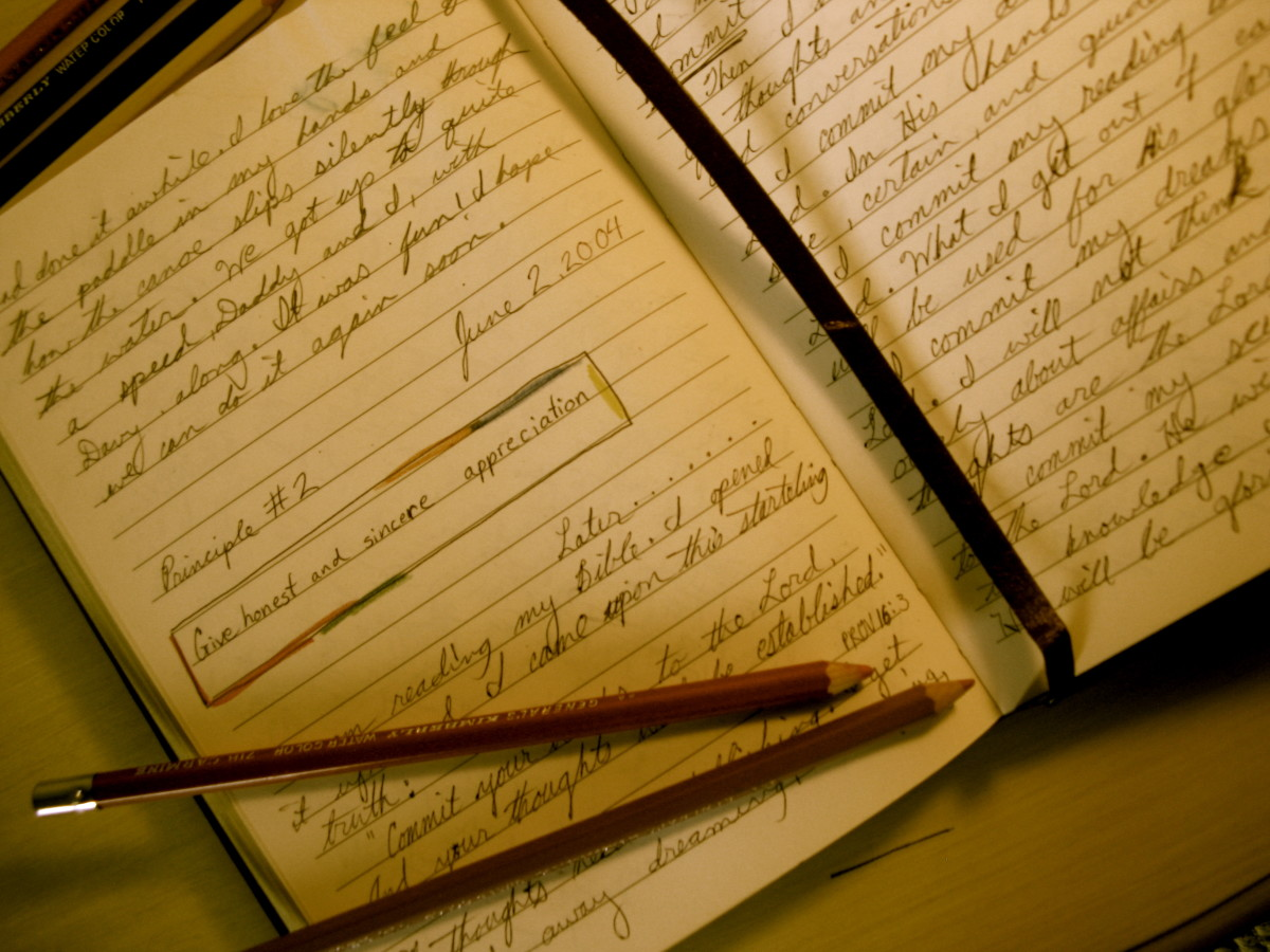 Spiritual growth can be tracked in your journal or diary.