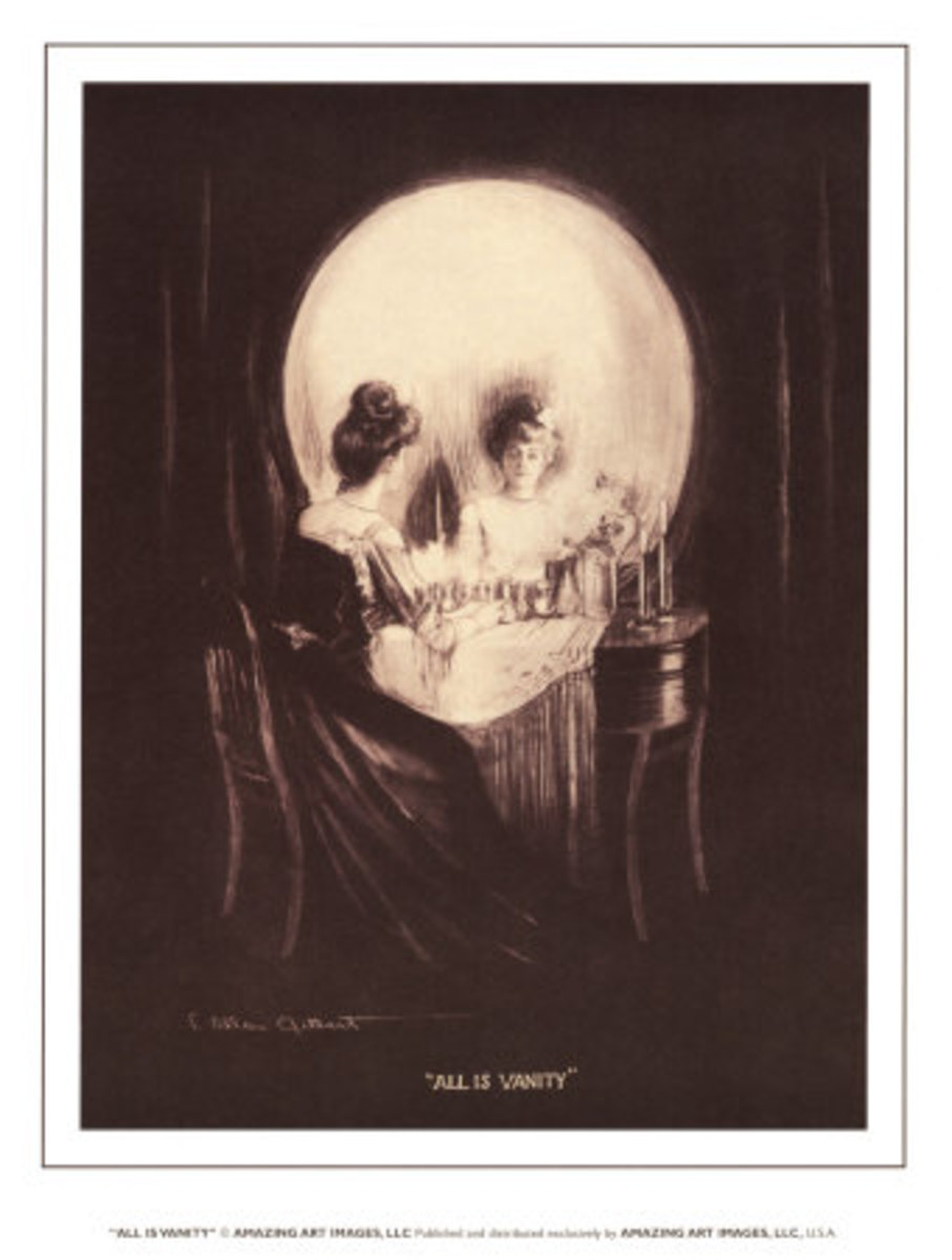 """All is Vanity"" one of Charles Allan Gilbert's finest illusions."