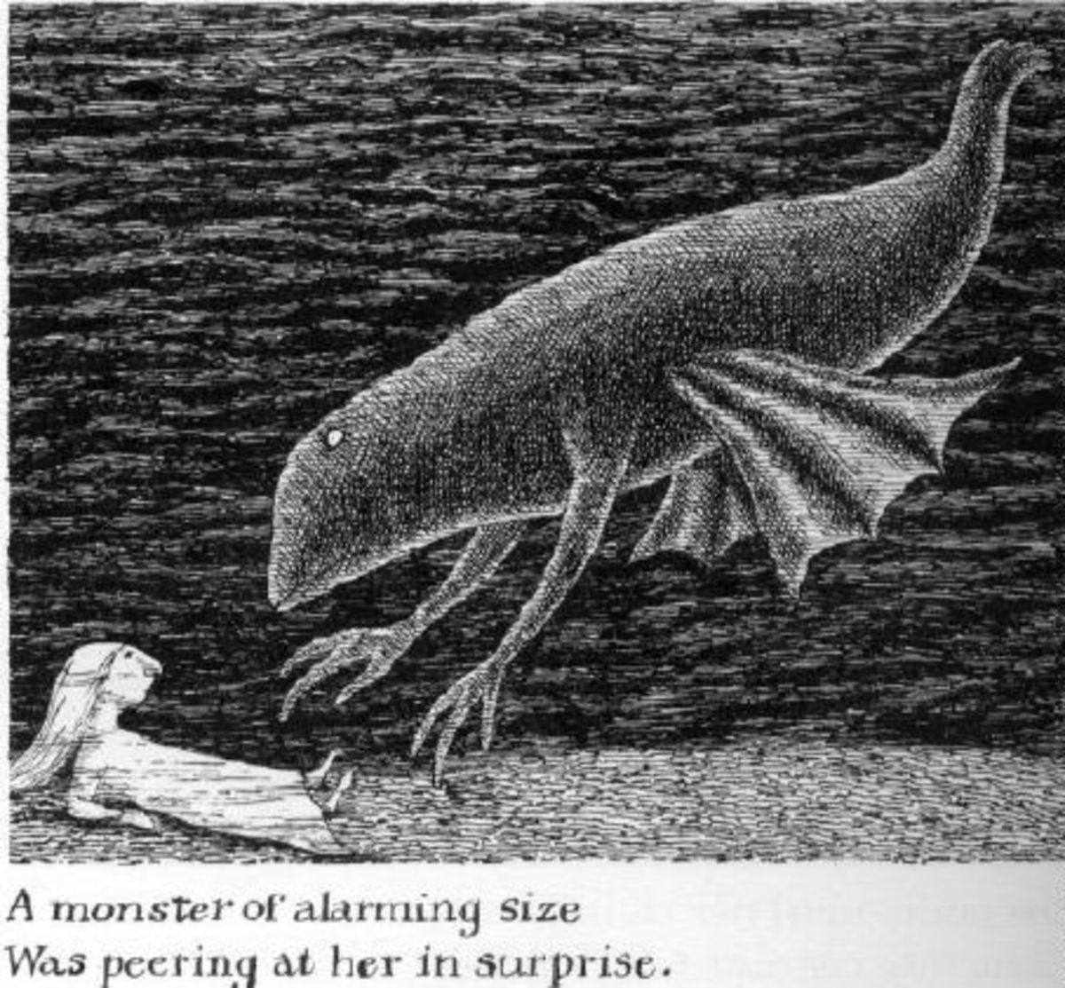 An Edward Gorey illustration - delving into whimsy.