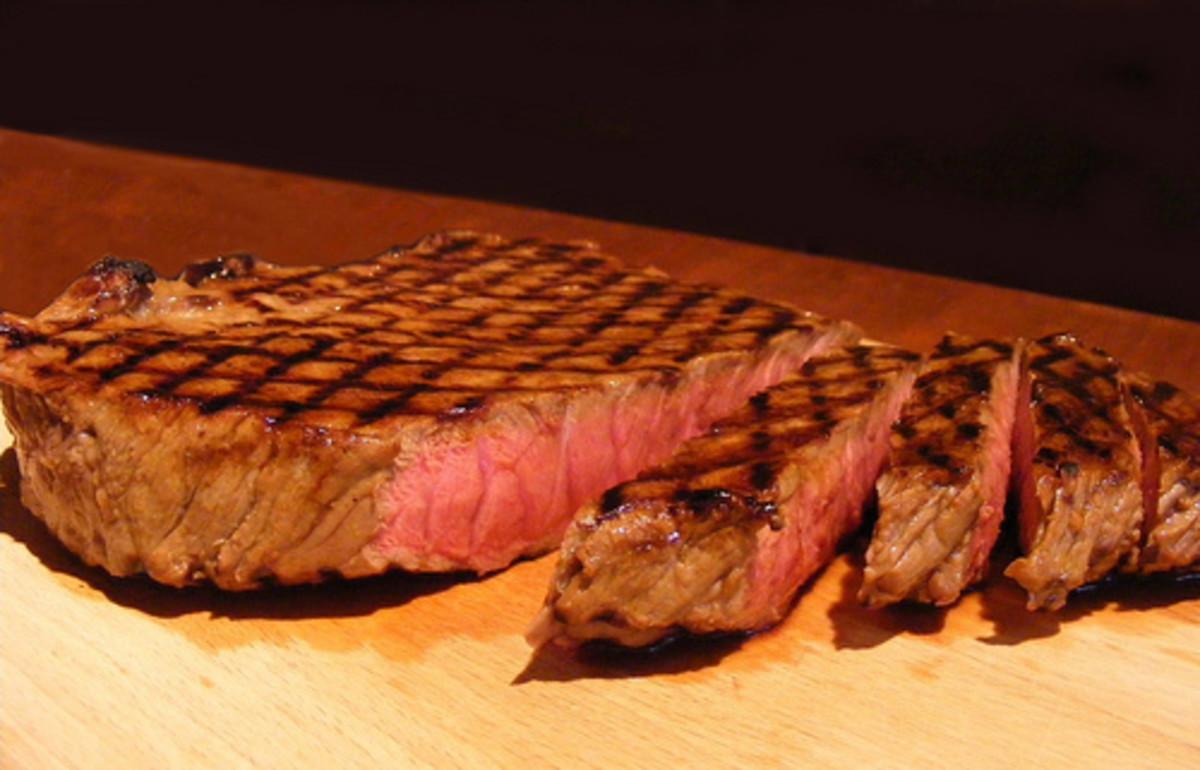 Grilled boneless top sirloin steak
