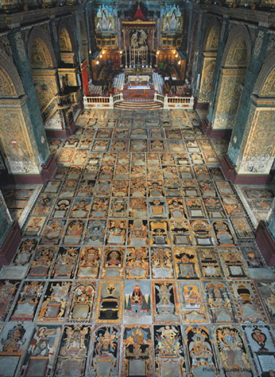 FLOOR OF ST. JOHN'S CATHEDRAL