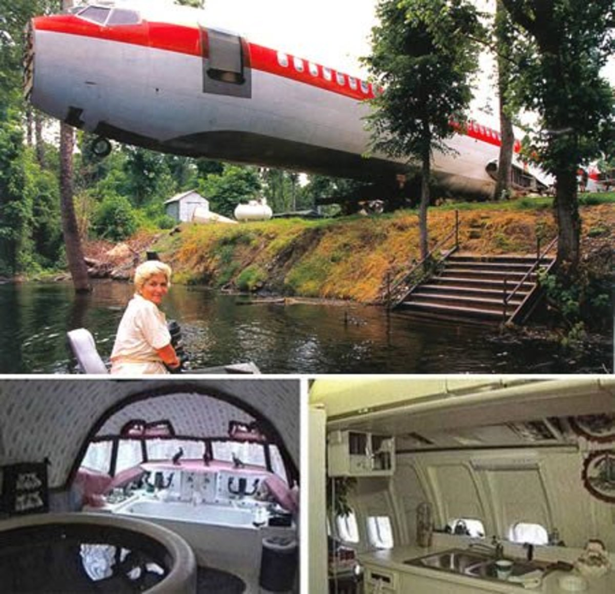 The Boeing 727 House, in Benoit (Mississippi, USA). The plane set Joanne Ussary back $2,000.00, cost $4,000.00 to move, and $24,000.00 to renovate.