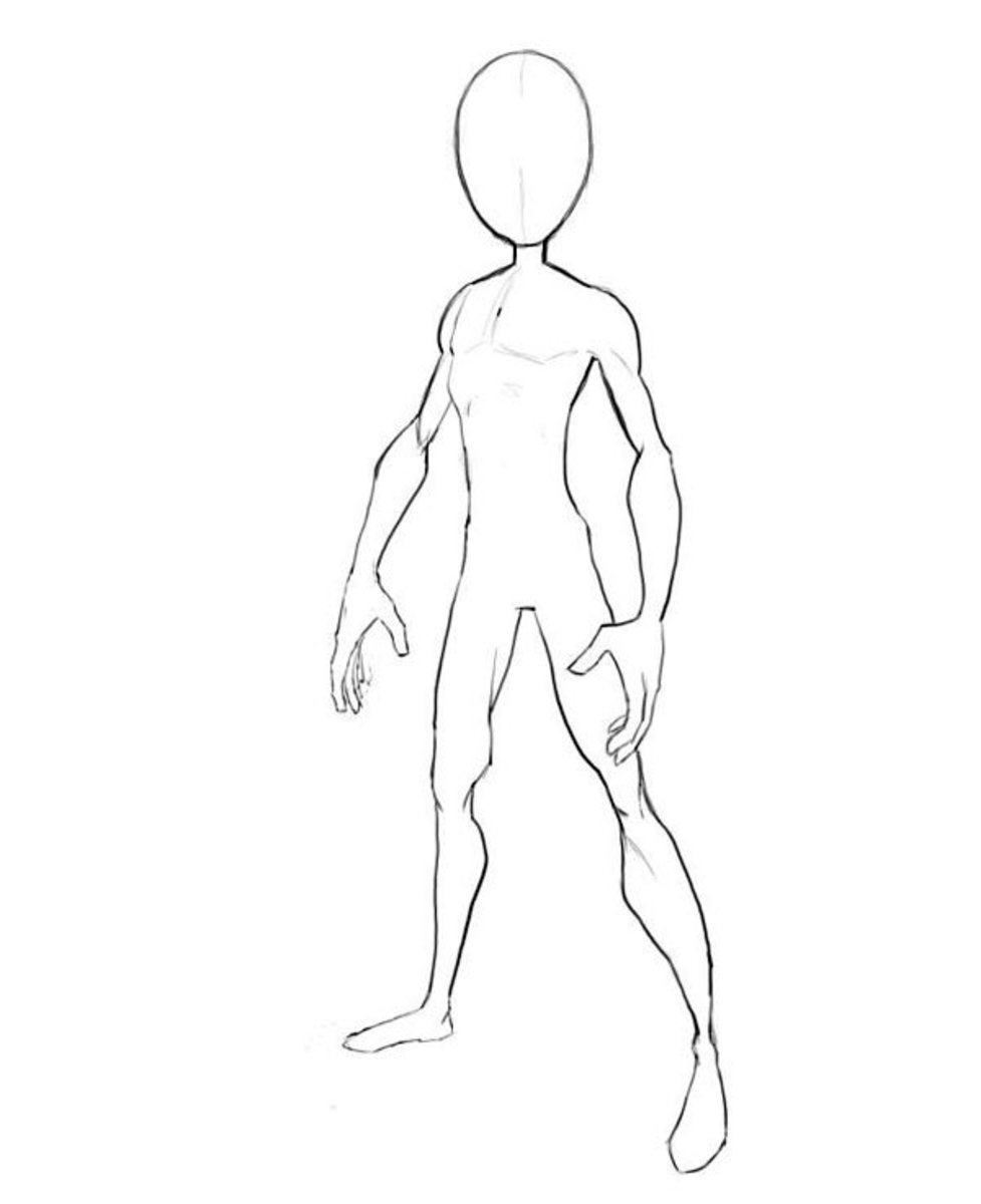 How to draw Spiderman body outline