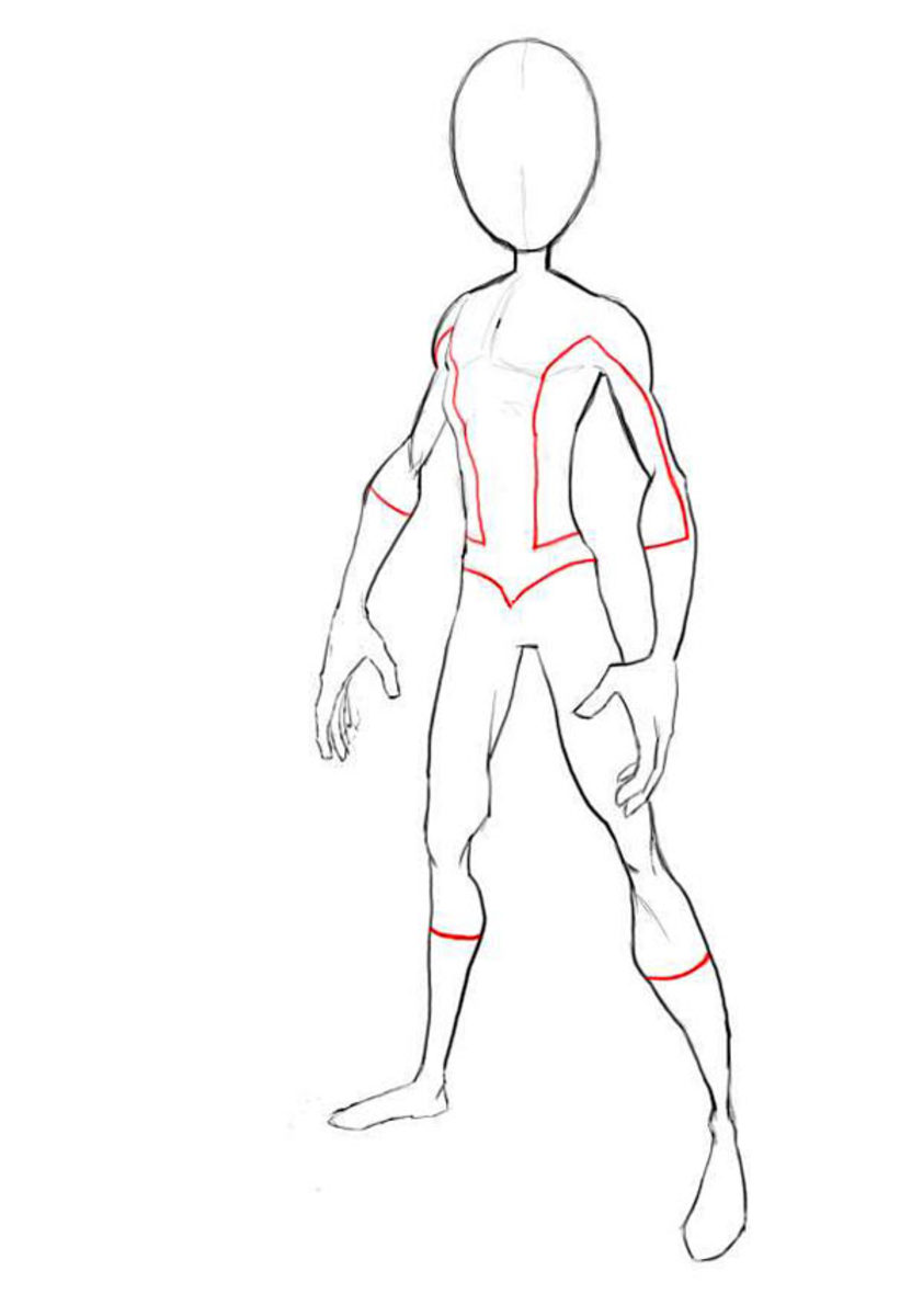 how to draw spiderman body outline. Black Bedroom Furniture Sets. Home Design Ideas