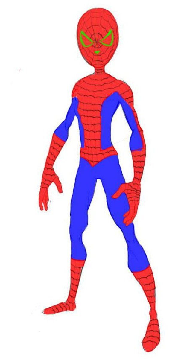 how-to-draw-spiderman-front
