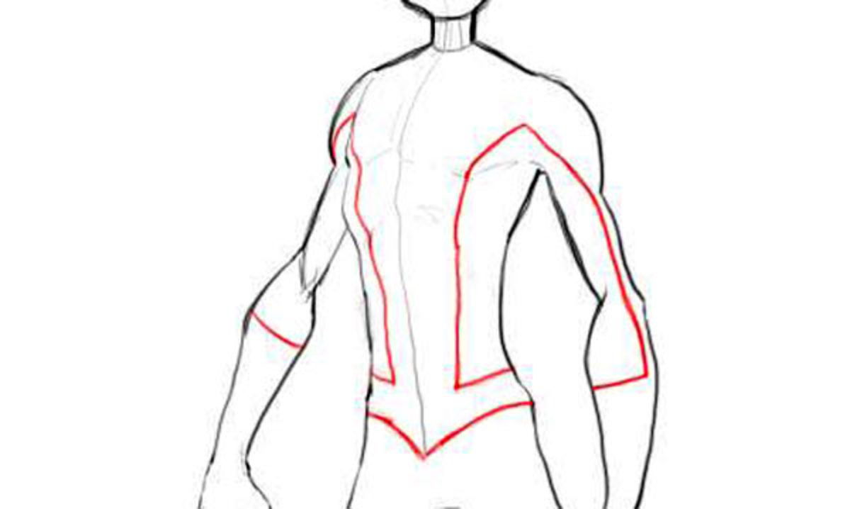 Spiderman Chest Drawing How to Draw Spiderman Body