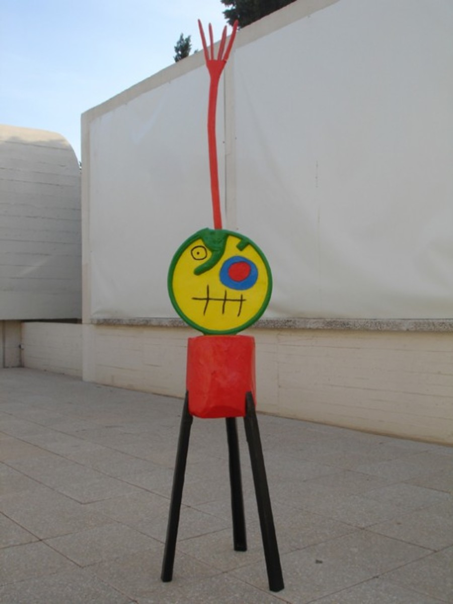 Miró sculpture at the Miró Foundation in Barcelona