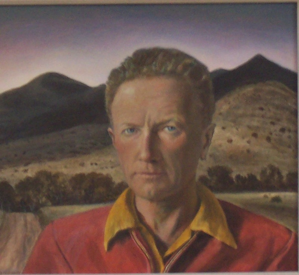 Peter Hurd- Self Portait at the Roswell Museum and Art Center