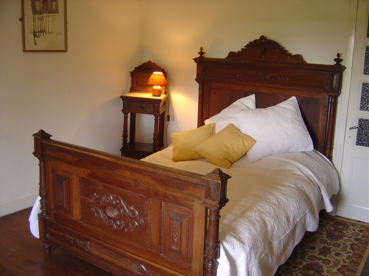 The rooms are furnished with French antiques