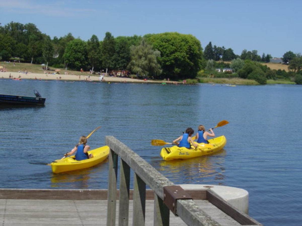Videix lake and beach has boating, restaurants, snack bars ...
