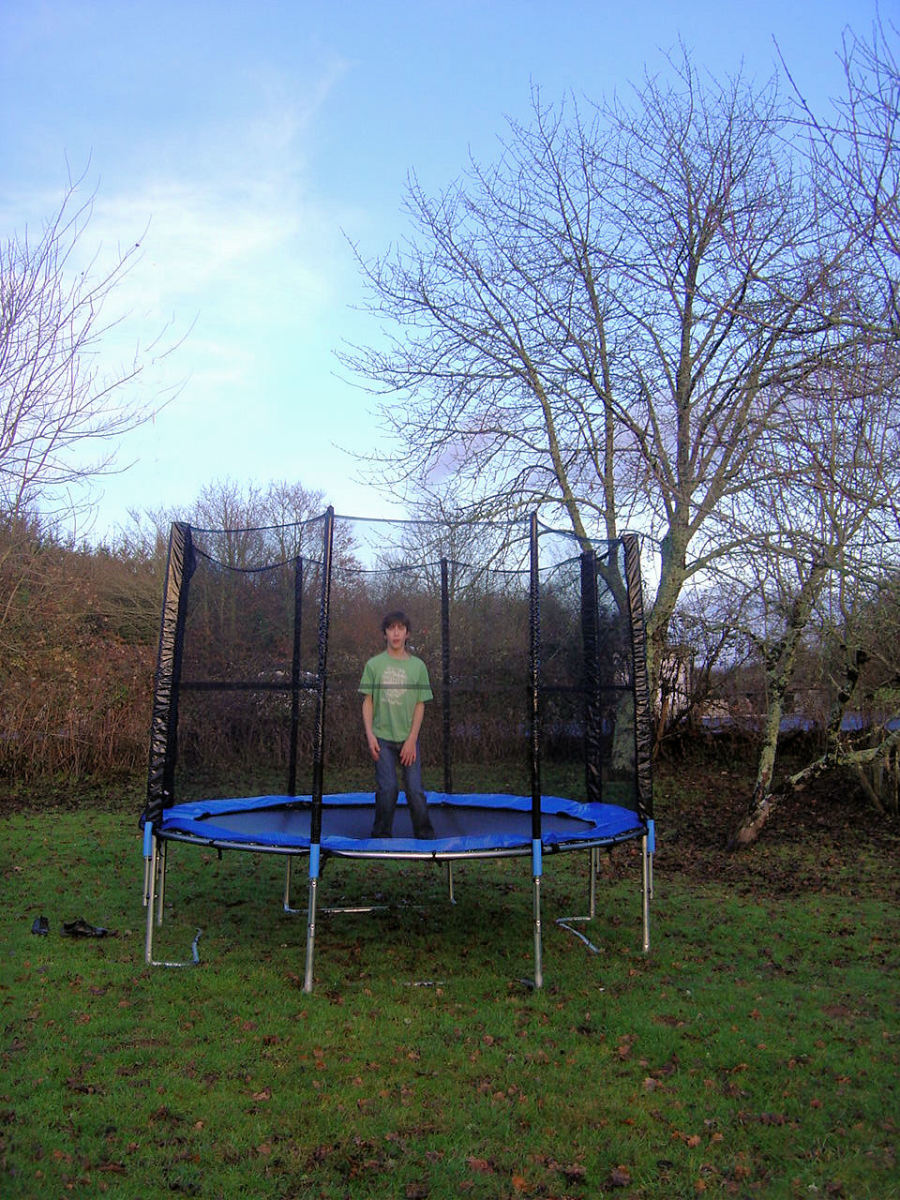 Our new trampoline is great fun for kids and adults alike - but check out safety rules and regs