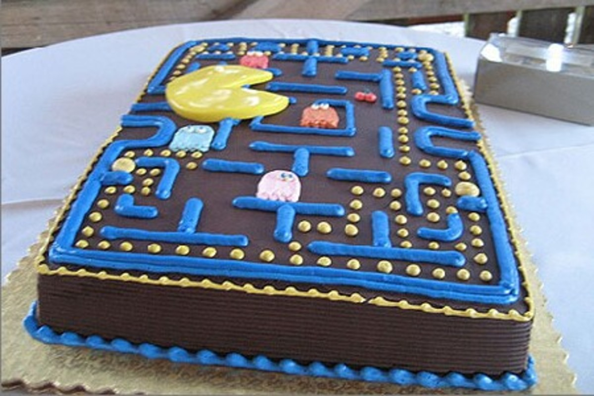 Pac Man sheet cake