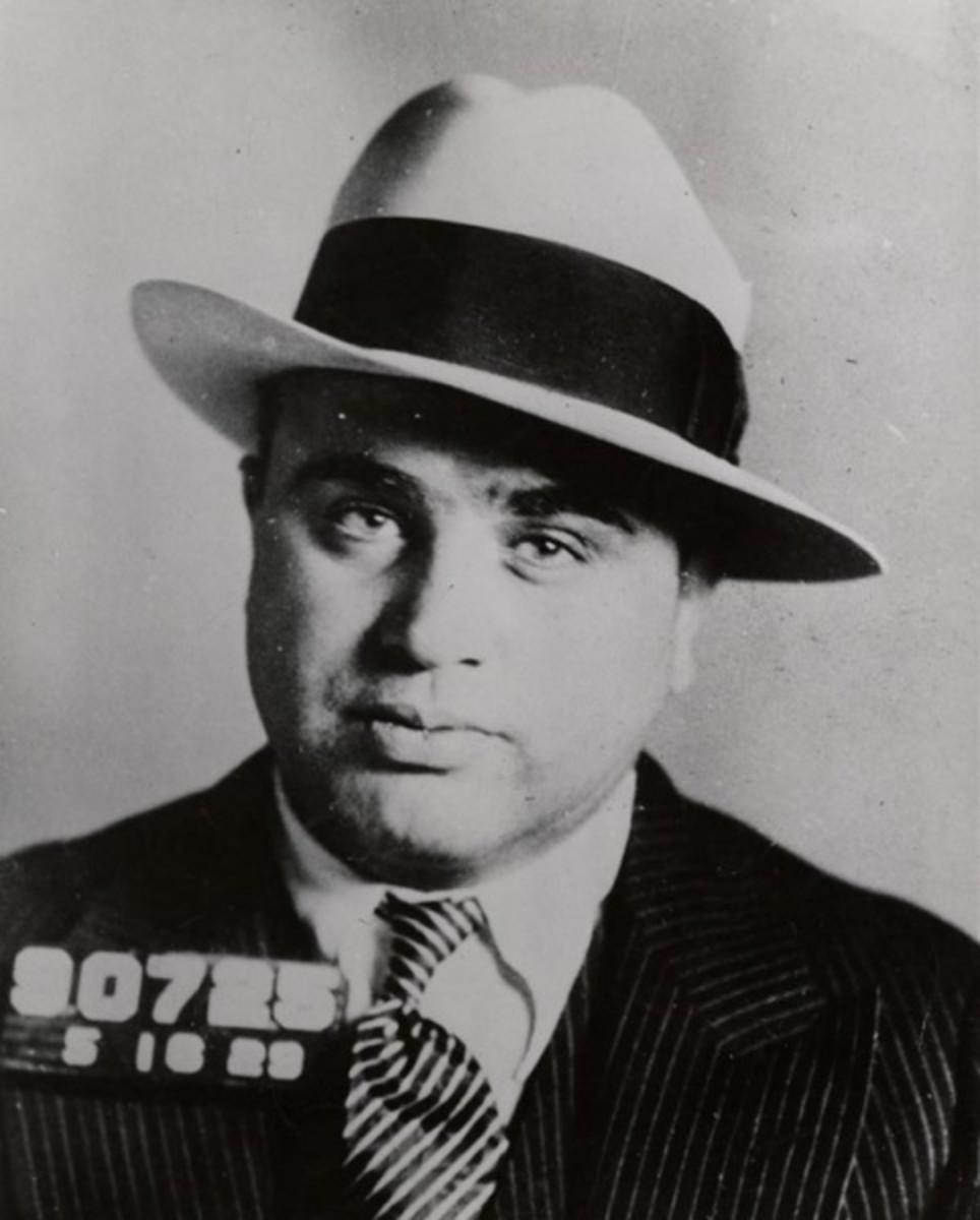 Al Capone's 1929 Philadelphia, Pa, mug shot