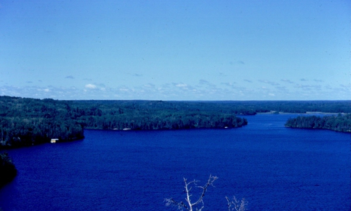 View to west - northwest from Gin Hill - Moose Lake - Canadian Border Bay