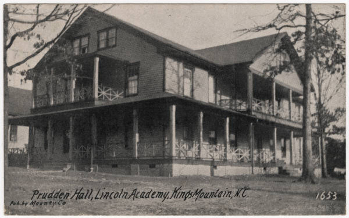 Prudden Hall - year that appears on postcard must be false - Prudden Hall was not built until 1884.