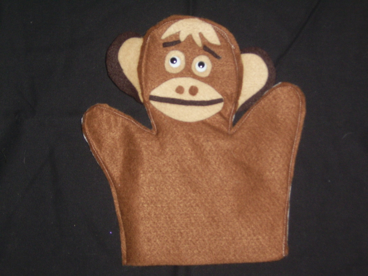 Minky Monkey Puppet