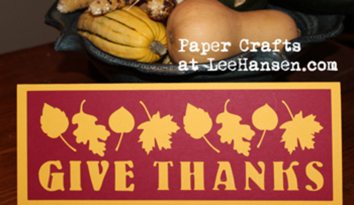 Give Thanks Die Cut Template Card