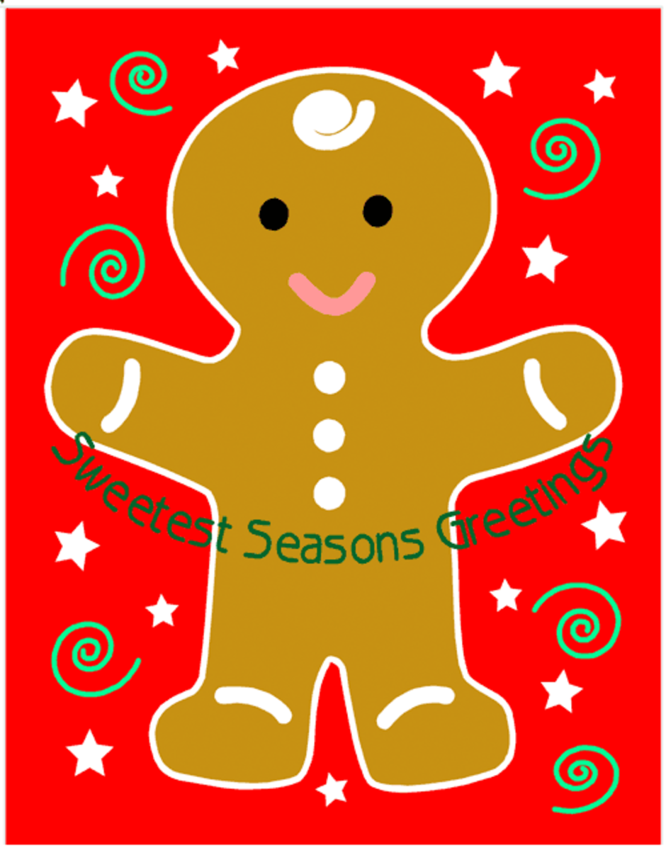Printable Christmas Card Gingerbread Man