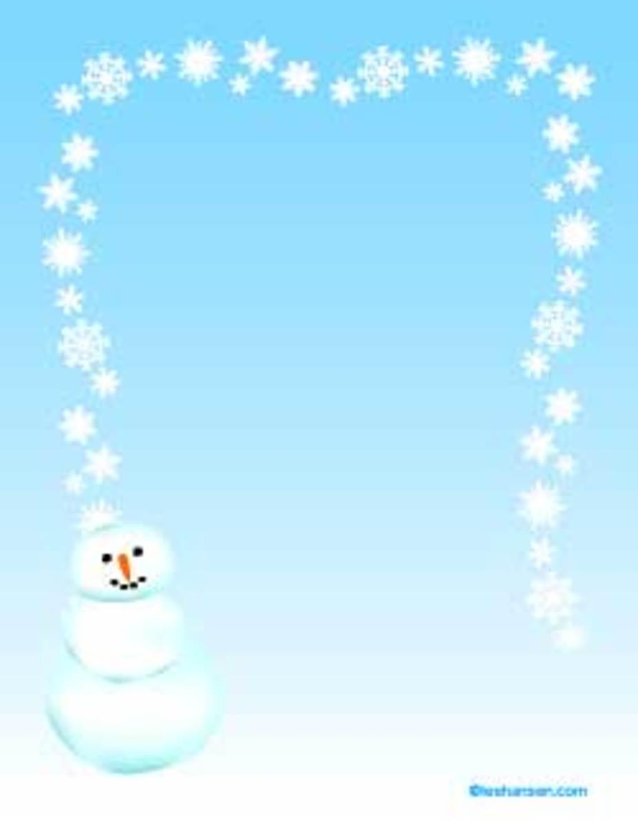 Snowman Border Paper