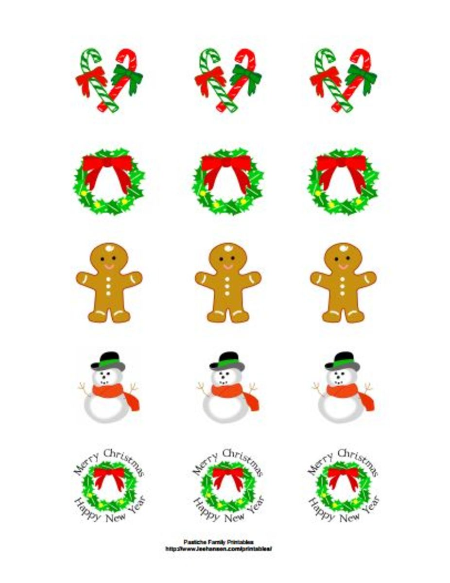 Get printable stickers for Christmas at Pastiche Family Portal
