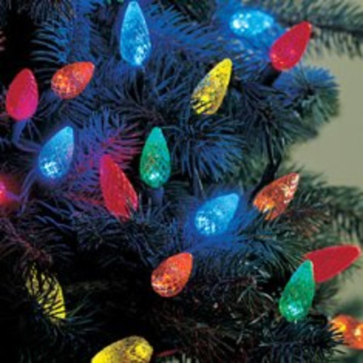 different c7 or c9 lights christmas tree lights