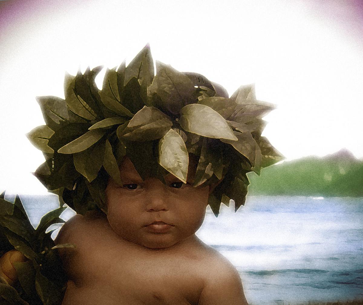 Hawaiian Menehune -Digital Art RE Kongaika