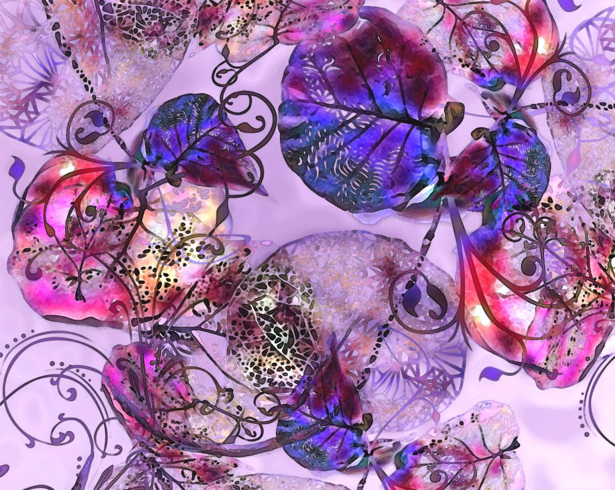 Lacey leaves - Digital Creation RE Kongaika