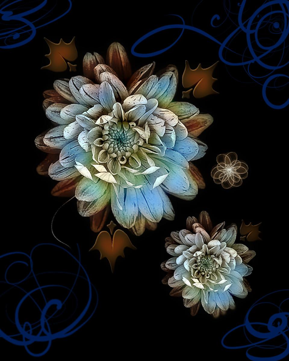 Antique Blue - Digital Creation RE Kongaika