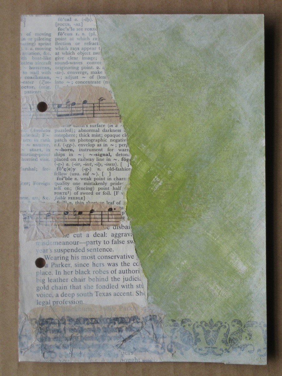 This page has the painted background completed, with the text page added.