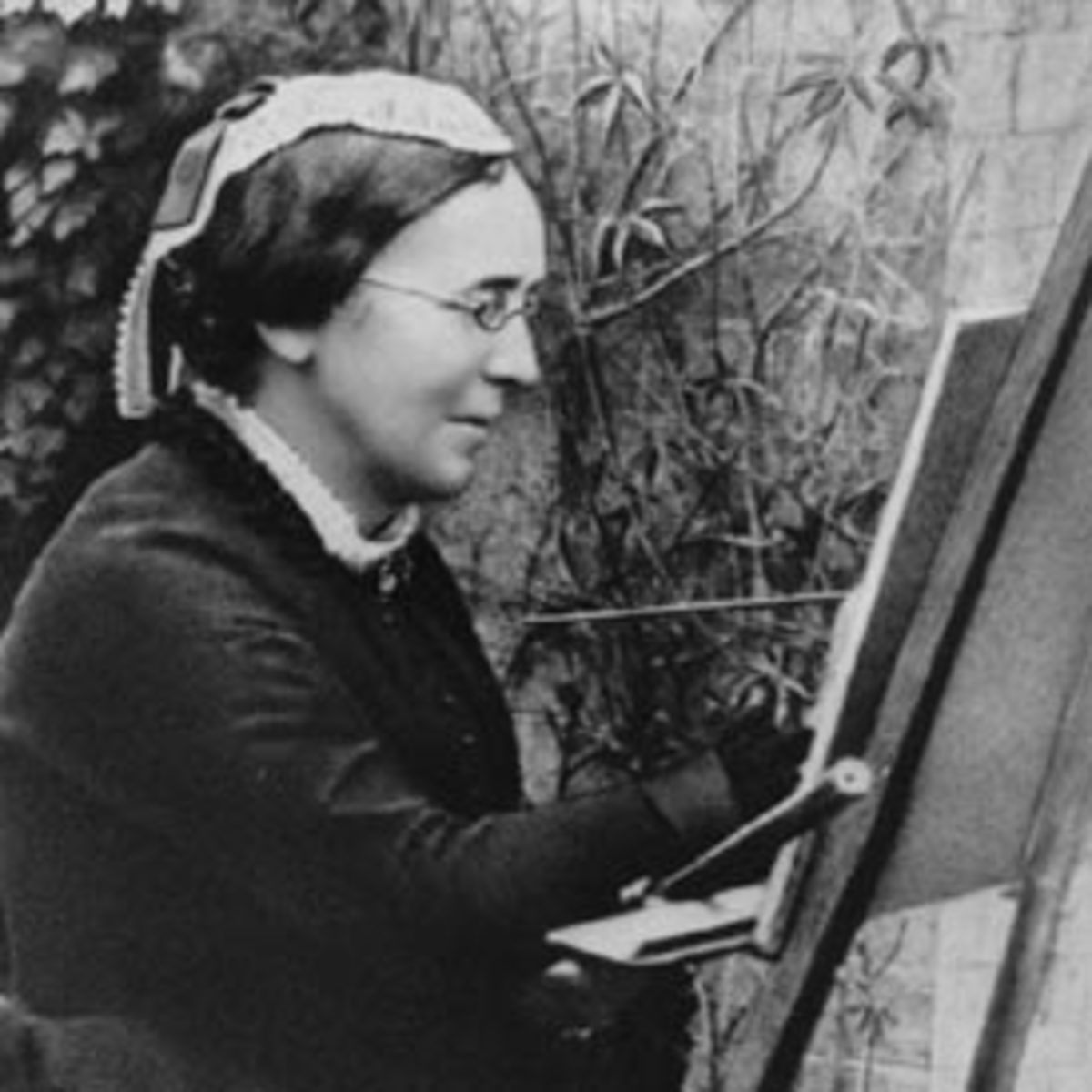 Marianne North at work