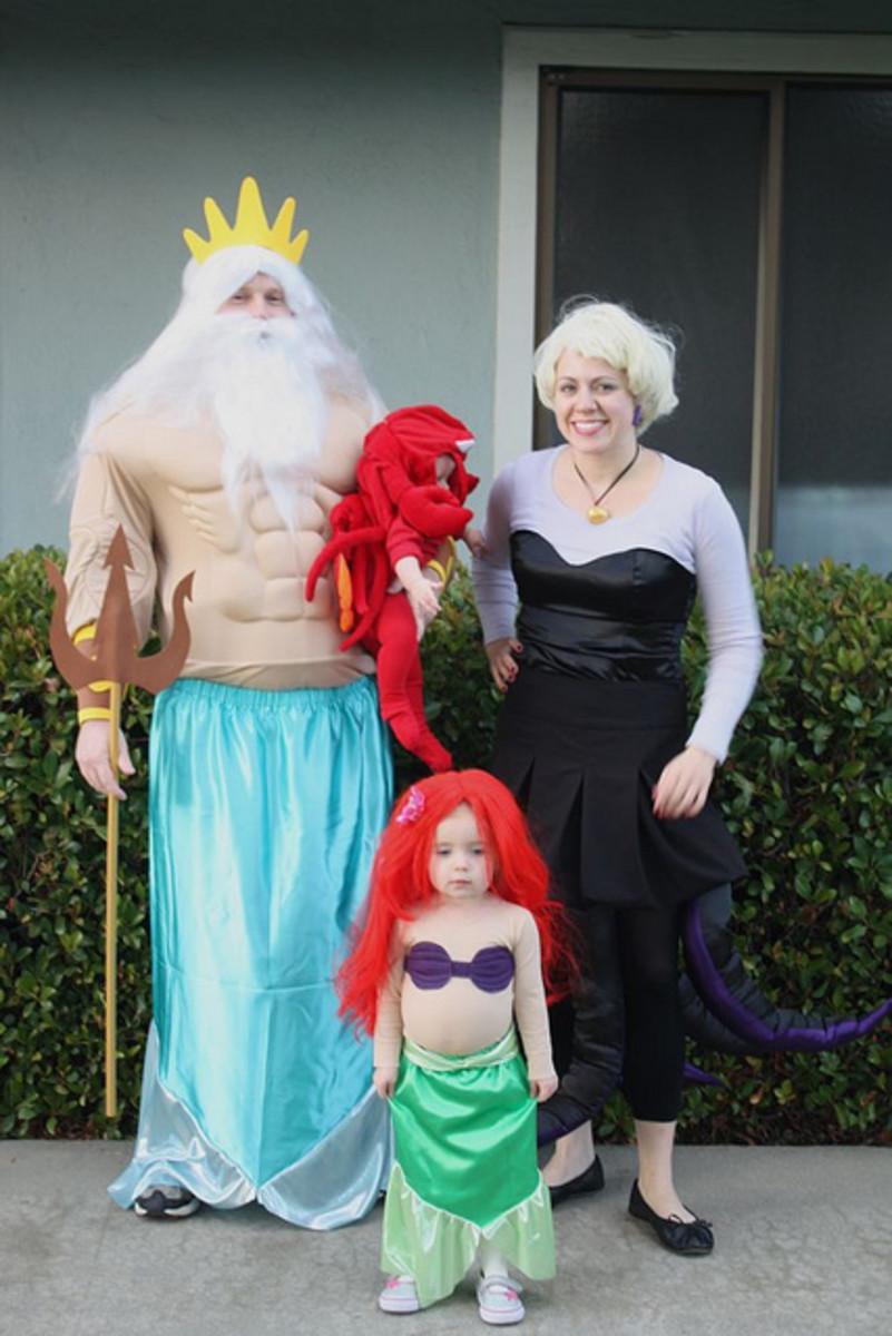 Little mermaid fancy dress for the family