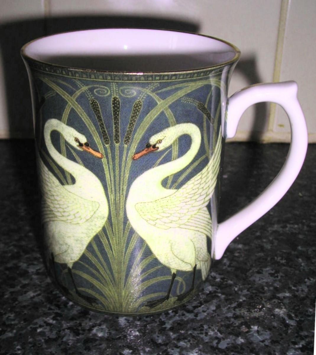 Art Nouveau Swan Design