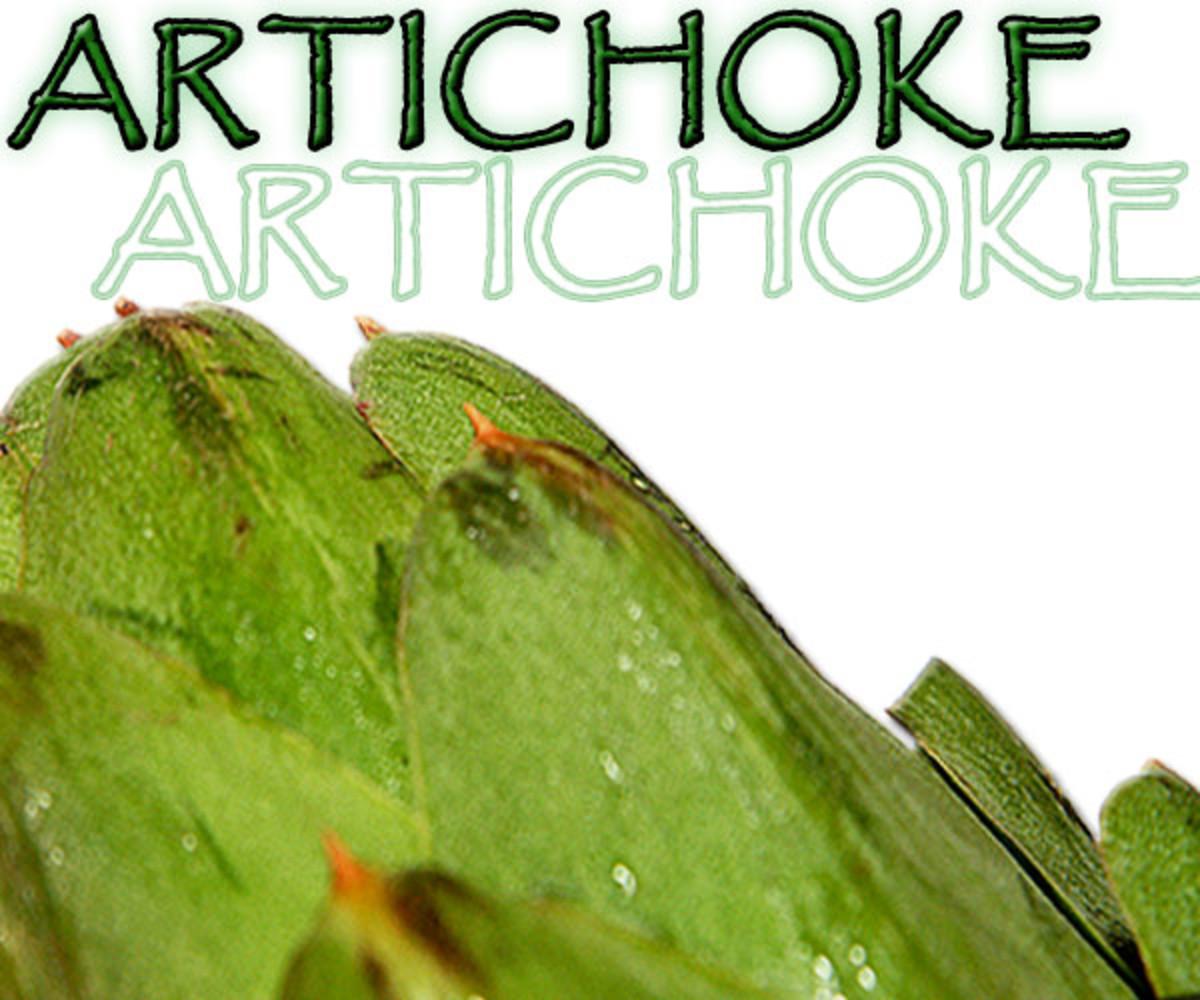 Artichokes have pretty sharp thorns!