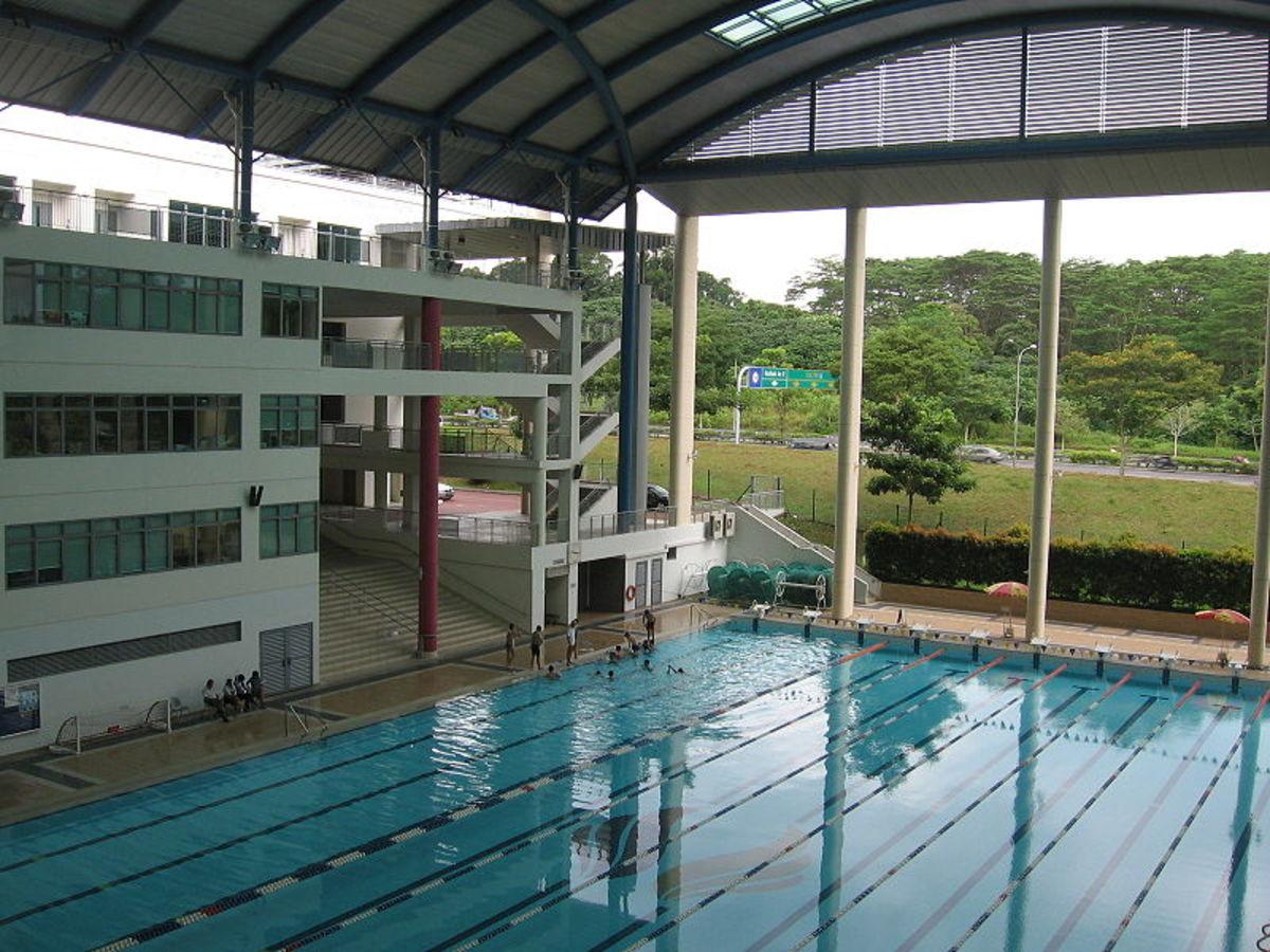 Singapore Sports School - Venue for the Aquatics- Swimming, Modern Pentathlon, Shooting.  Image by Sengkang, Wikipedia
