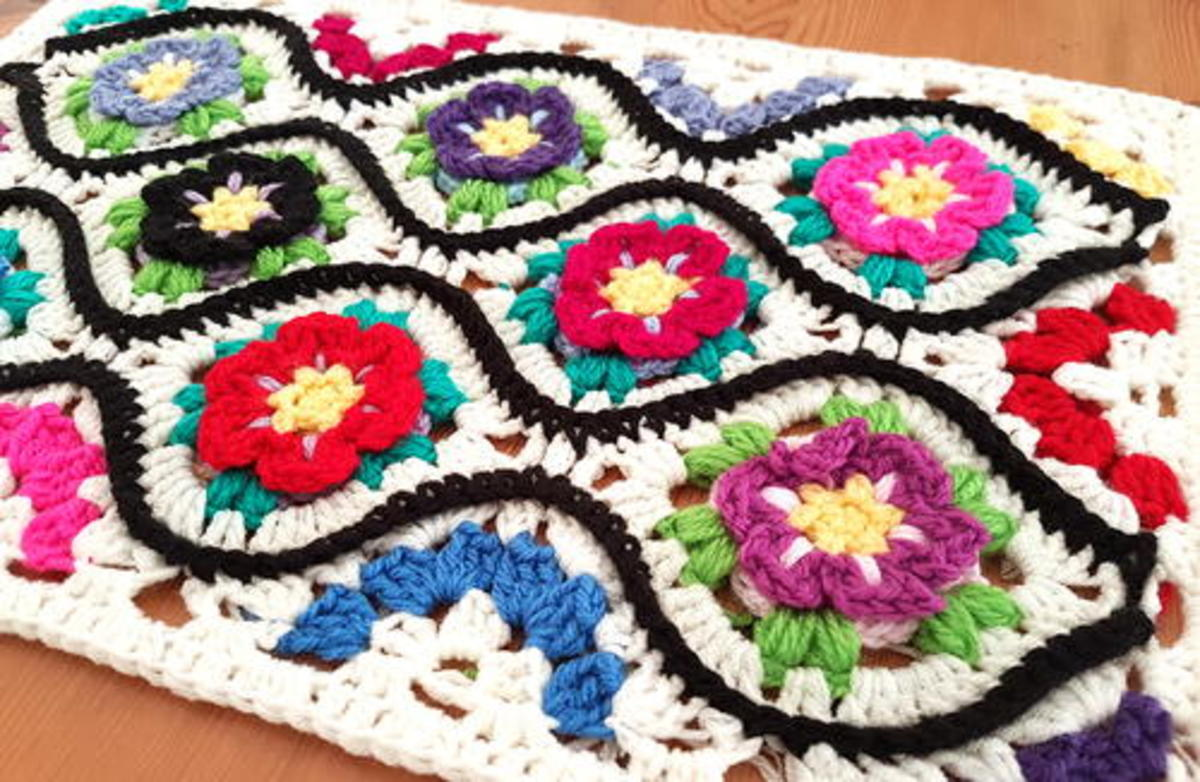 This a photo of the Moroccan Garden one of the patterns from allfreecrochet