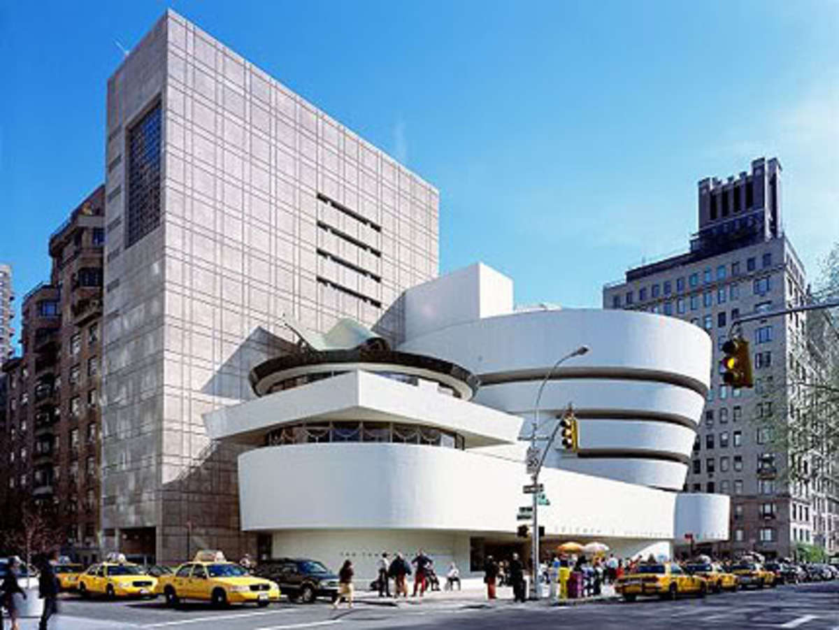 Guggenheim Museum, one of Wright's renown architectural work