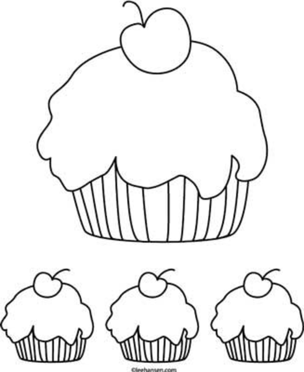 Cupcake Coloring Page Printable