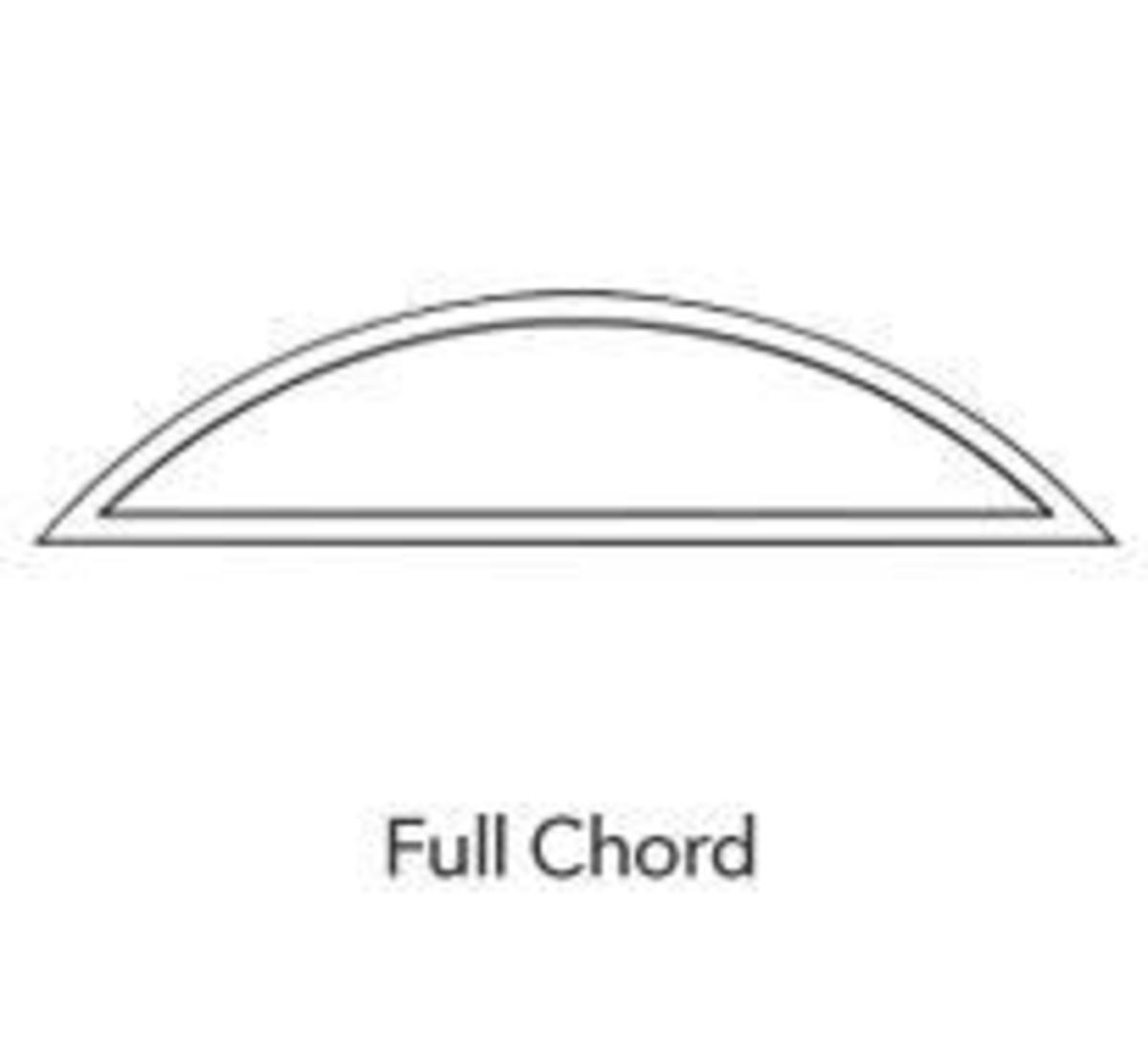 Full chord - eyebrow window by Pella